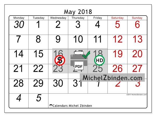 May Calendar Numbers Printable : Calendars to print may large numbers united kingdom