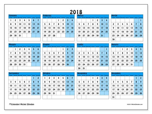 Calendario  2018 - Fabricius (it)