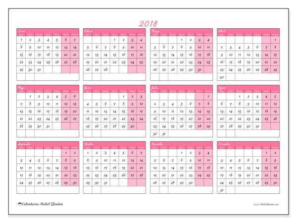 Calendario  2018, Irenaeus