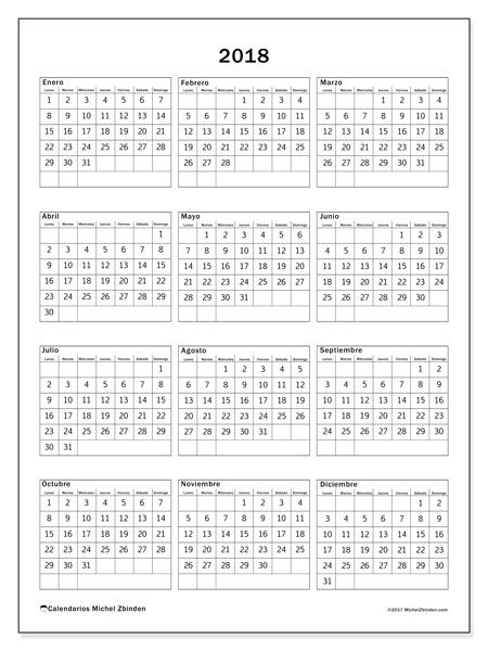 Calendario  2018, Johannes
