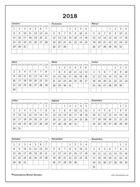 Calendário  2018, Johannes