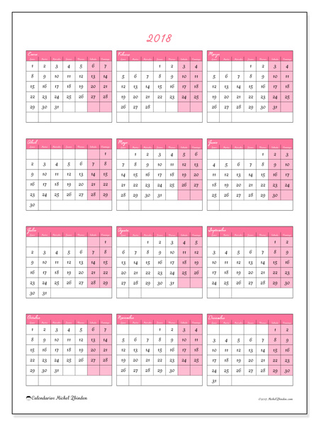 Calendario  2018 - Renatus (cl)