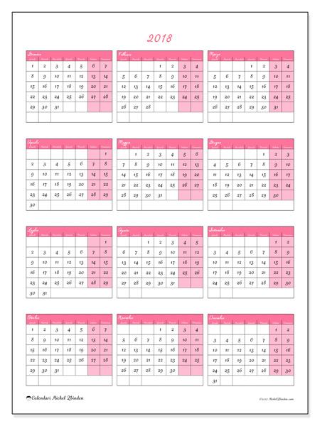 Calendario  2018, Renatus