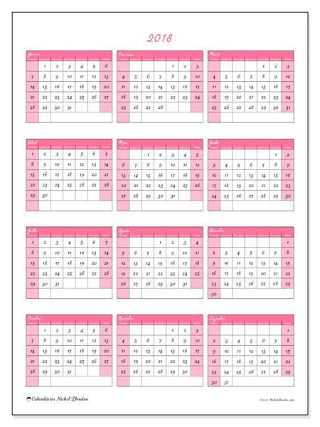 Calendário  2018 - Renatus (br)