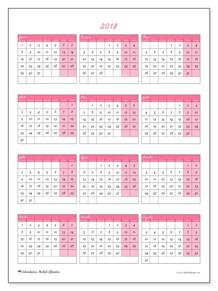 Calendário  2018, Renatus
