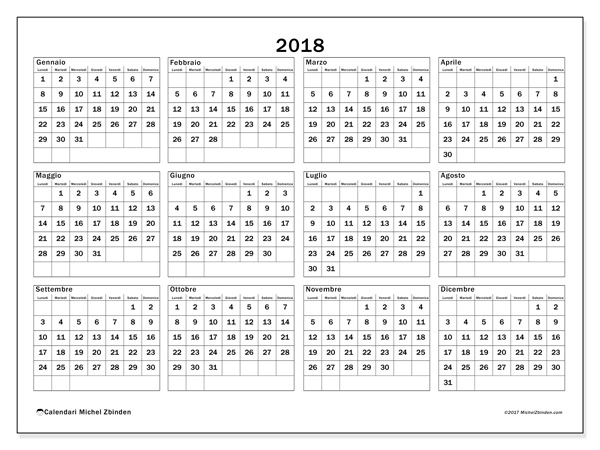 Calendario  2018 - Romulus (it)