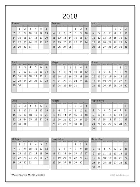 Calendario  2018, Valerius