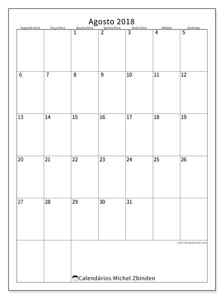 Calendário agosto 2018, Antonius