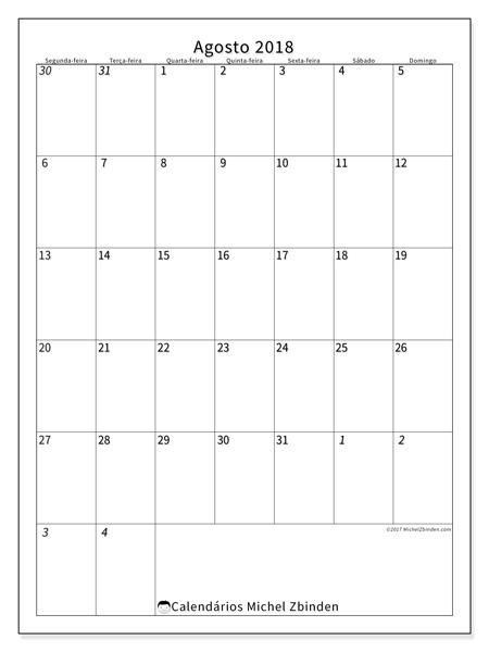 Calendário agosto 2018, Regulus