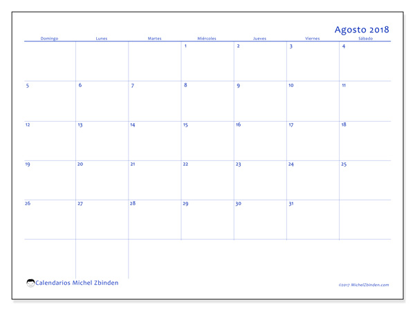 Calendario agosto 2018, Ursus