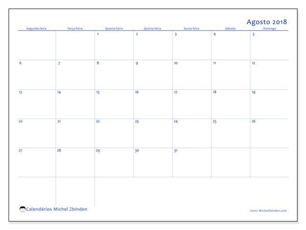 Calendário agosto 2018, Ursus