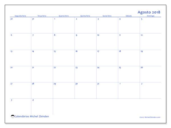 Calendário agosto 2018, Vitus
