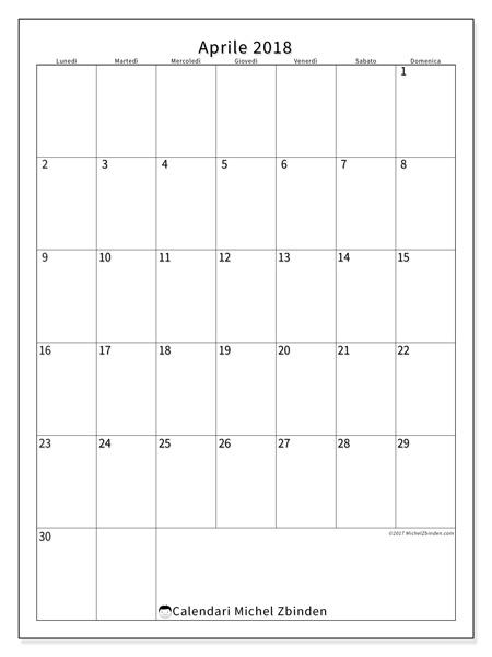 Calendario aprile 2018, Antonius