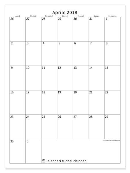 Calendario aprile 2018, Regulus