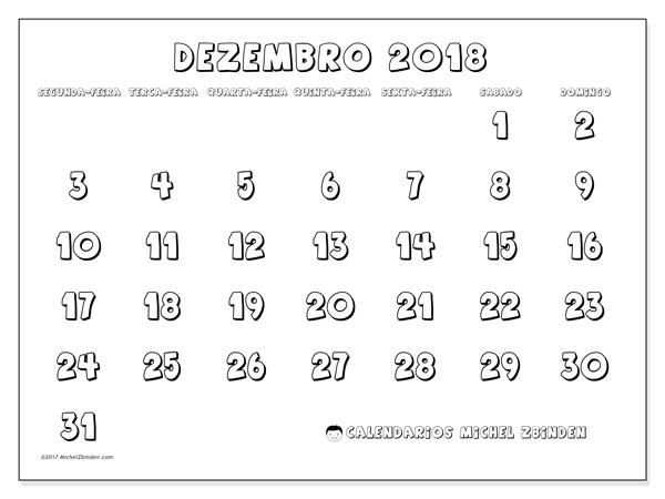 Calendário dezembro 2018, Adrianus