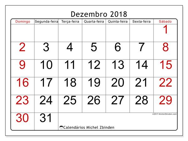 Calendário dezembro 2018, Emericus