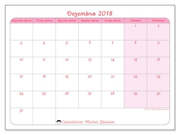 Calendário dezembro 2018, Generosa