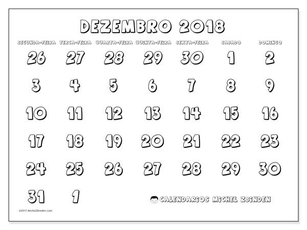 Calendário dezembro 2018, Hilarius
