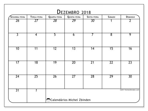 Calendário dezembro 2018, Maximus