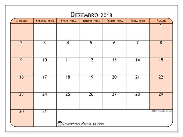 Calendário dezembro 2018, Olivarius