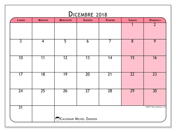 Calendario dicembre 2018, Severinus