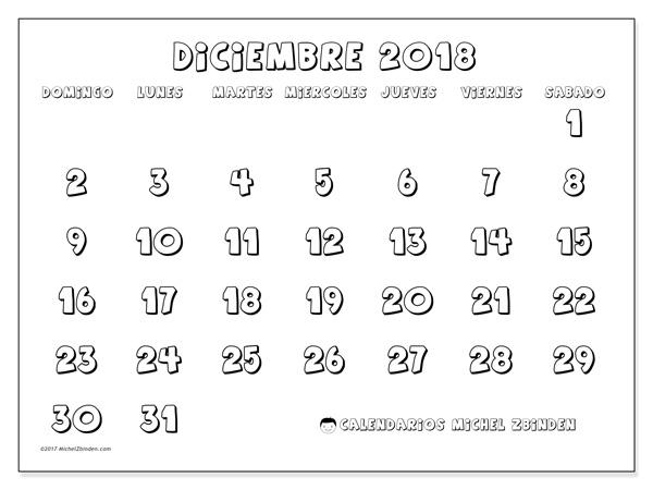 Calendario diciembre 2018, Adrianus