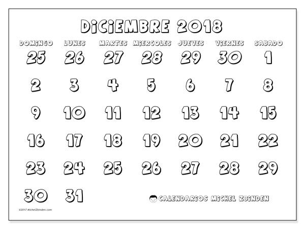 Calendario diciembre 2018, Hilarius