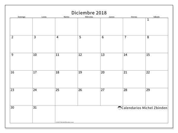 Calendario diciembre 2018, Horus