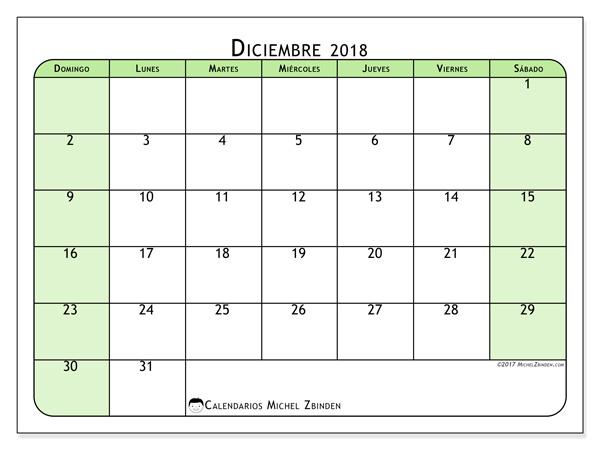 Calendario diciembre 2018, Silvanus