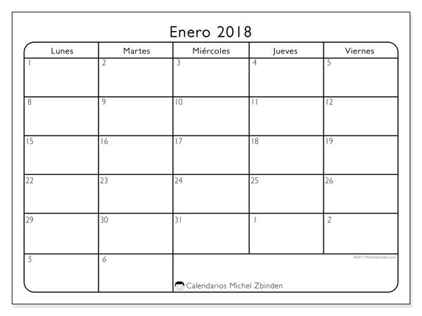 Calendario enero 2018 - Egidius (cl)