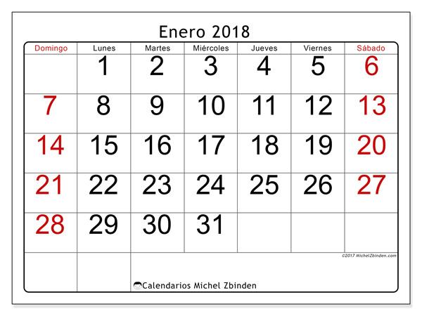Calendario enero 2018 - Emericus (co)
