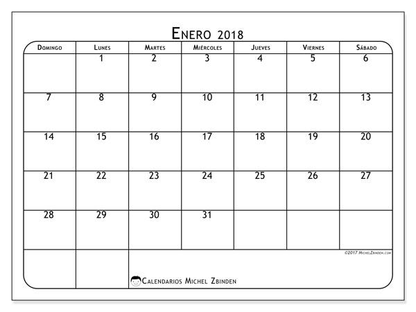 Calendario enero 2018 - Marius (us)