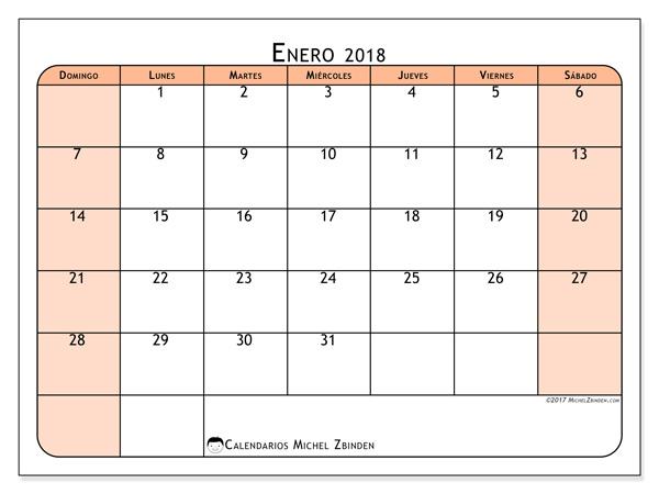 Calendario enero 2018 - Olivarius (co)