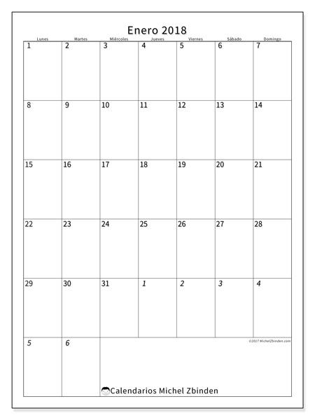Calendario enero 2018, Regulus