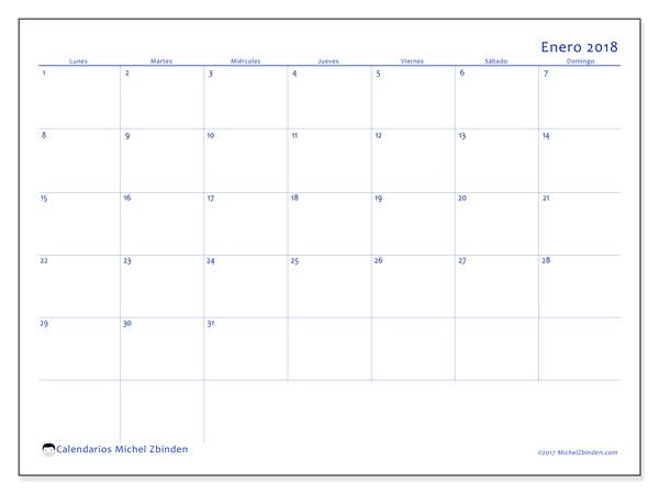 Calendario enero 2018, Ursus