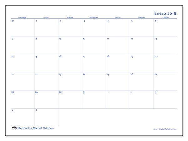 Calendario enero 2018, Vitus