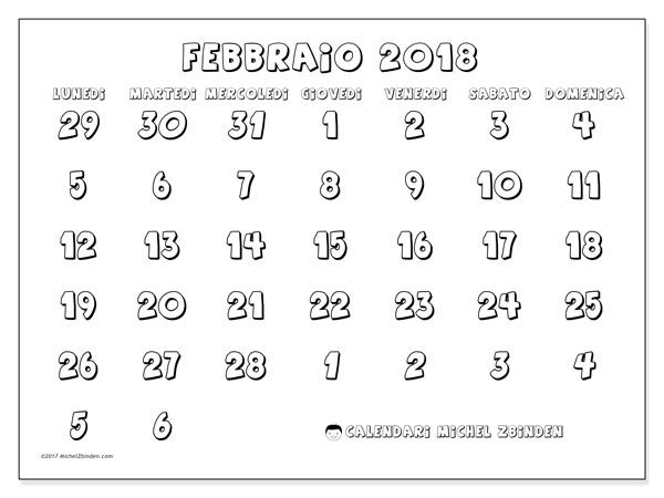 Calendario febbraio 2018, Hilarius