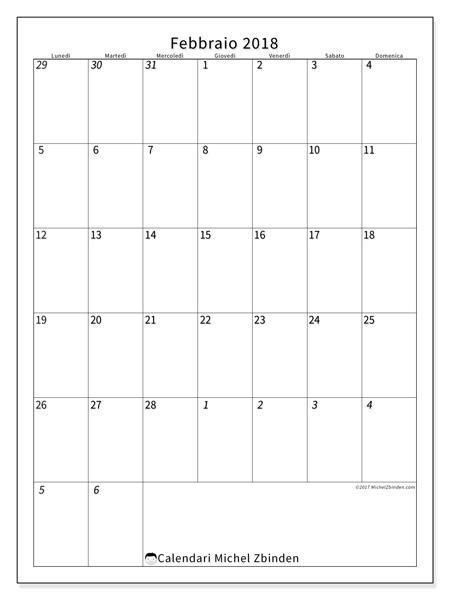 Calendario febbraio 2018, Regulus
