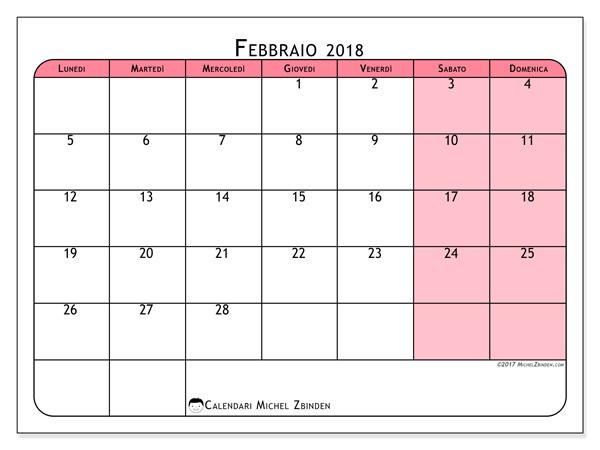Calendario febbraio 2018, Severinus
