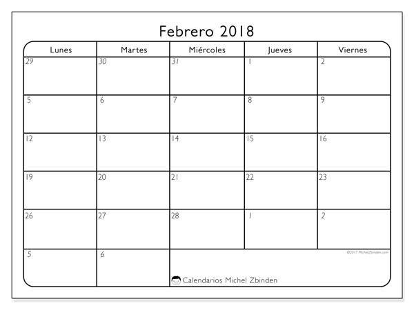Calendario febrero 2018, Egidius