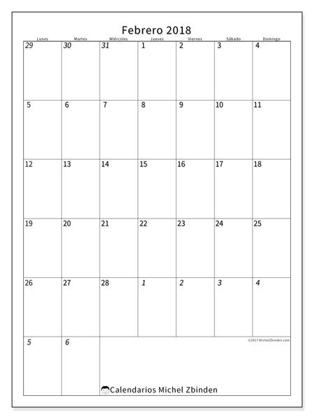 Calendario febrero 2018, Regulus