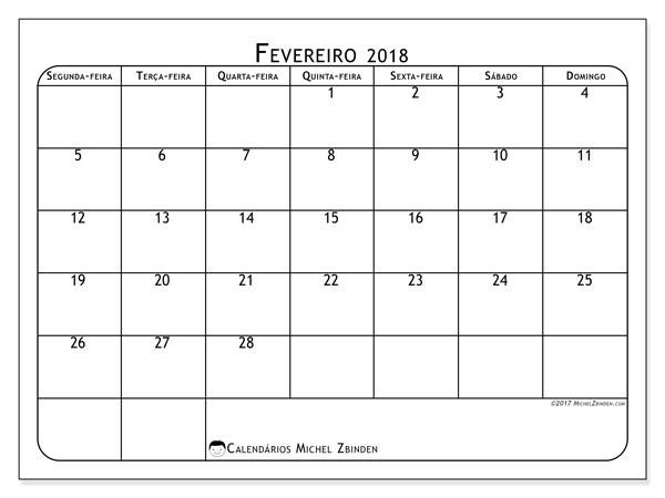 Calendário fevereiro 2018, Marius