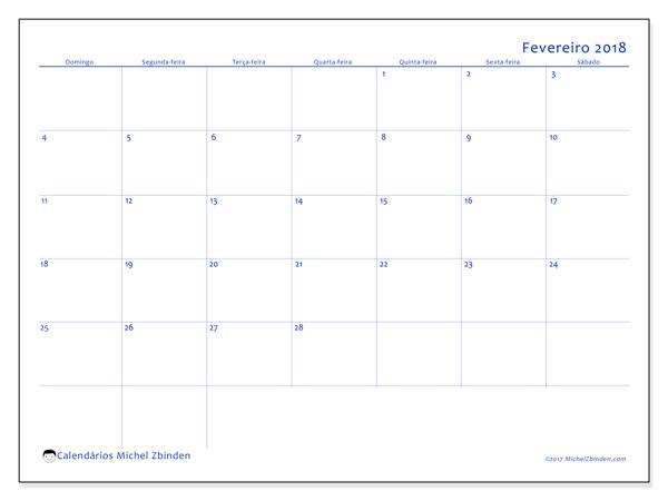 Calendário fevereiro 2018, Ursus