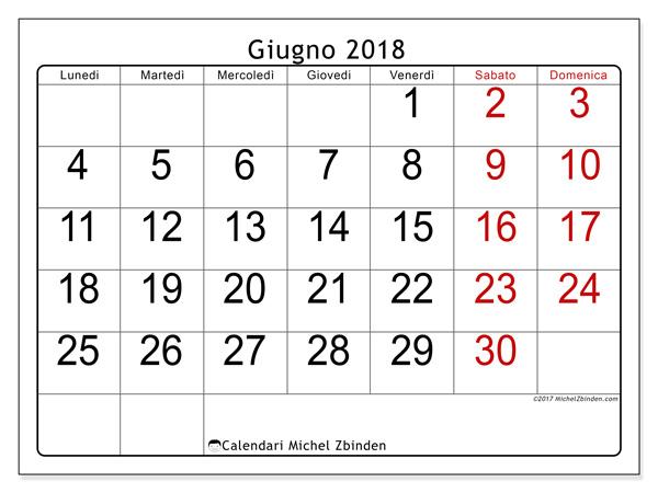 Calendario giugno 2018, Emericus