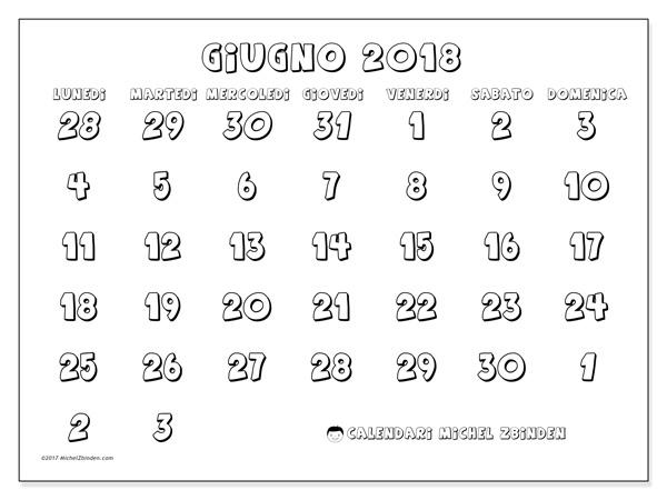 Calendario giugno 2018, Hilarius