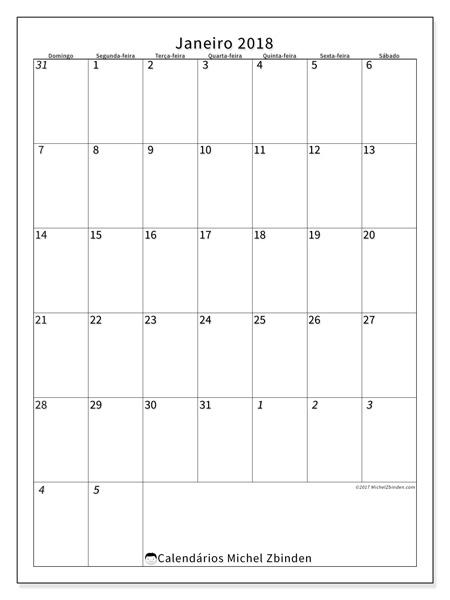 Calendário janeiro 2018 - Regulus (br)