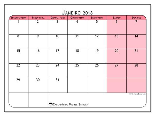 Calendário janeiro 2018, Severinus