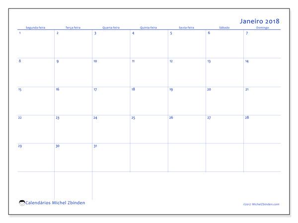 Calendário janeiro 2018, Ursus