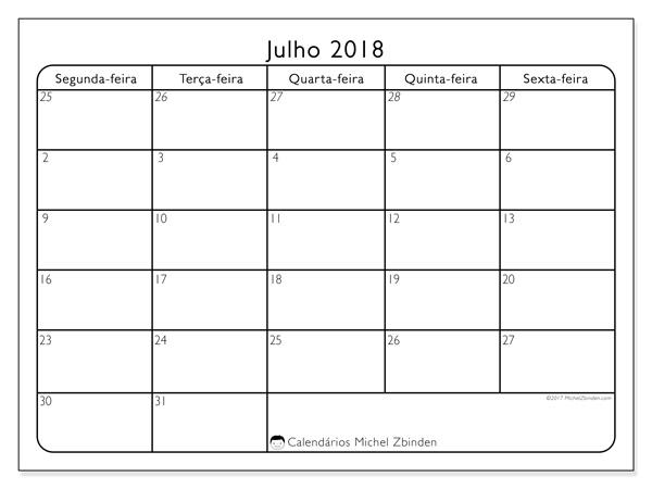 Calendário julho 2018, Egidius