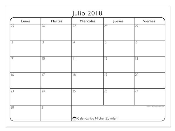 Calendario julio 2018, Egidius